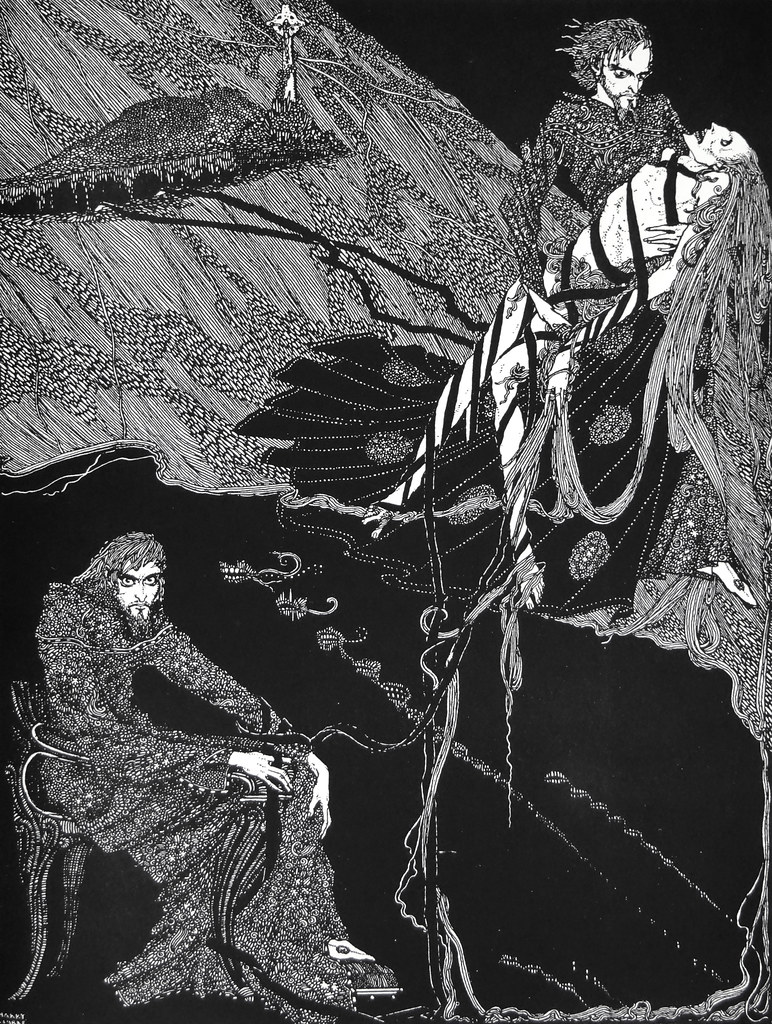 """It was a fearful page in the record of my existence."" Art by Harry Clarke for Poe's Tale ""Berenice."" (1936)"