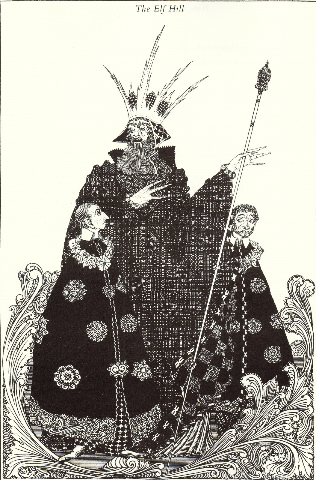 "Harry Clarke - ""'Don't give yourself airs,' said the old man.""From ""The Elf Hill"" from Hans Christian Andersen's Fairy Tales, 1916"