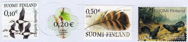 Stamps from Finland.