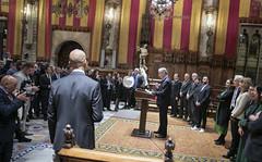 Tue, 19/11/2019 - 20:59 - Barcelona 19.11.2019  Sopar d'alcaldes al Saló de Cent. Foto Laura Guerrero/Ajuntament de Bcn.