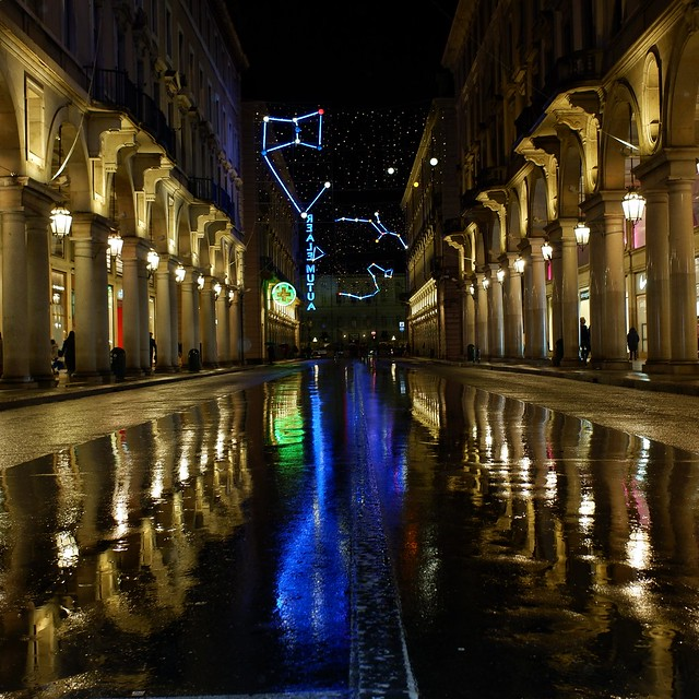 Turin by rain