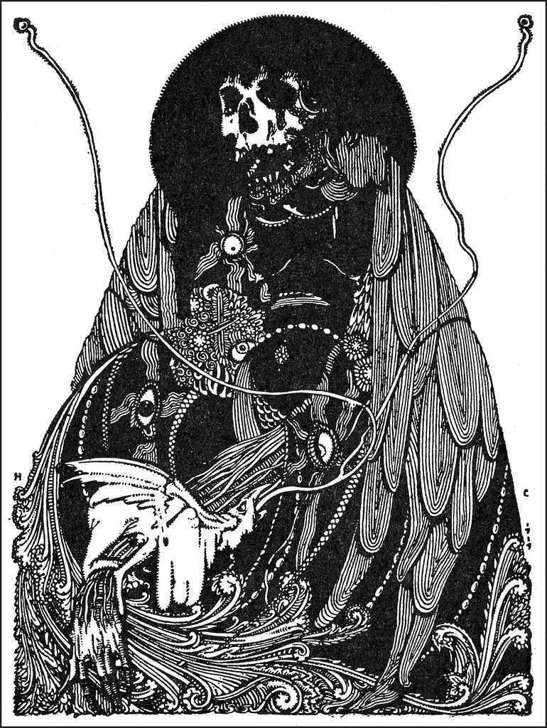 "Harry Clarke - Fifth decoration in ""Faust"" by Goethe, 1925"
