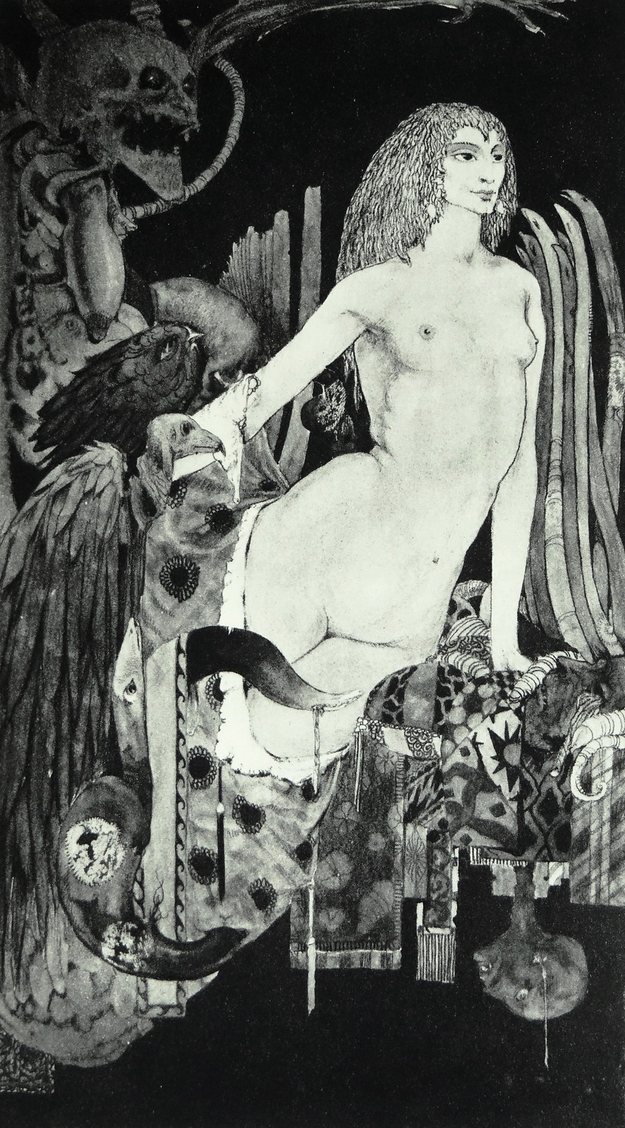 "Art for the Poem ""Faustine"" by Harry Clarke in ""Selected Poems of Algernon Charles Swinburne"" (1928)"