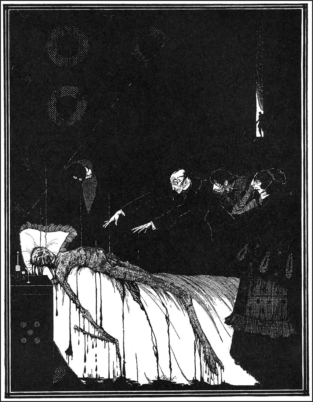 "Harry Clarke - Art for Edgar Allan Poe's ""Facts in the Case of M. Valdemar"" 1936"