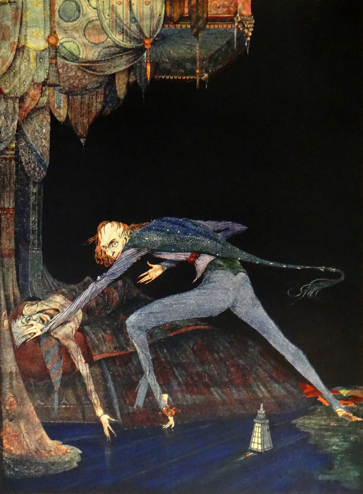"""He shrieked once, once only."" Art by Harry Clarke for Poe's ""Tales of Mystery & Imagination"" (1936)"