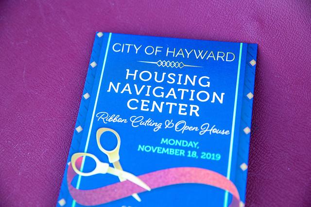 Hayward Navigation Center Ribbon Cutting - Nov. 18, 2019