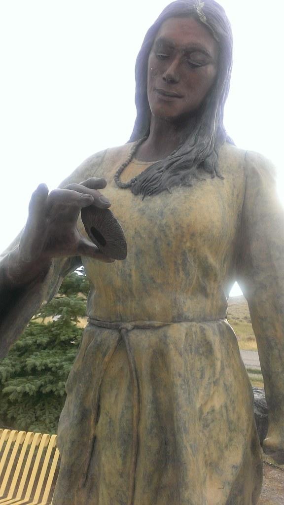 Sacajawea Memorial Statue,  Sacajawea Cemetery 8/20/2013