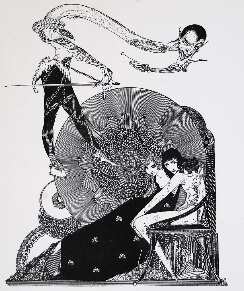 Tailpiece by Harry Clarke for Goethe's Faust (1927). Signed, Limited American Edition
