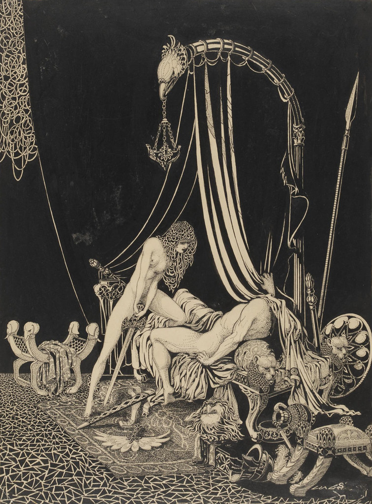 Harry Clark - Judith slaying Holofernes, early 20th C