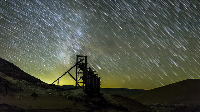 Milky Way Star Trails Over Mine