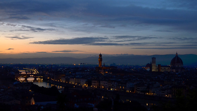 blue hour in Florence