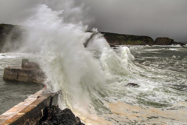 Northerly storm; Portknockie, Moray, Scotland