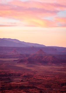 Dusk at Canyonland National Park, Utah, USA