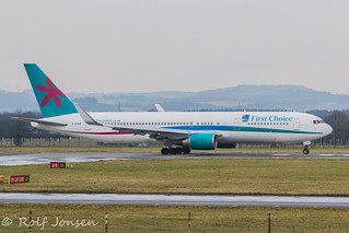G-OOBM Boeing 767-300ER Thomson Glasgow airport EGPF 21.11-14