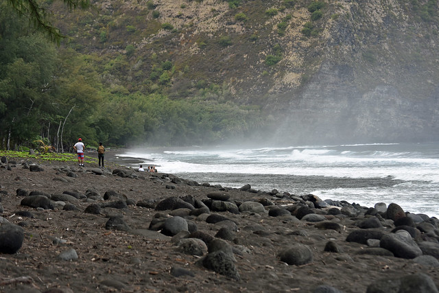 black sand beach, Waipio