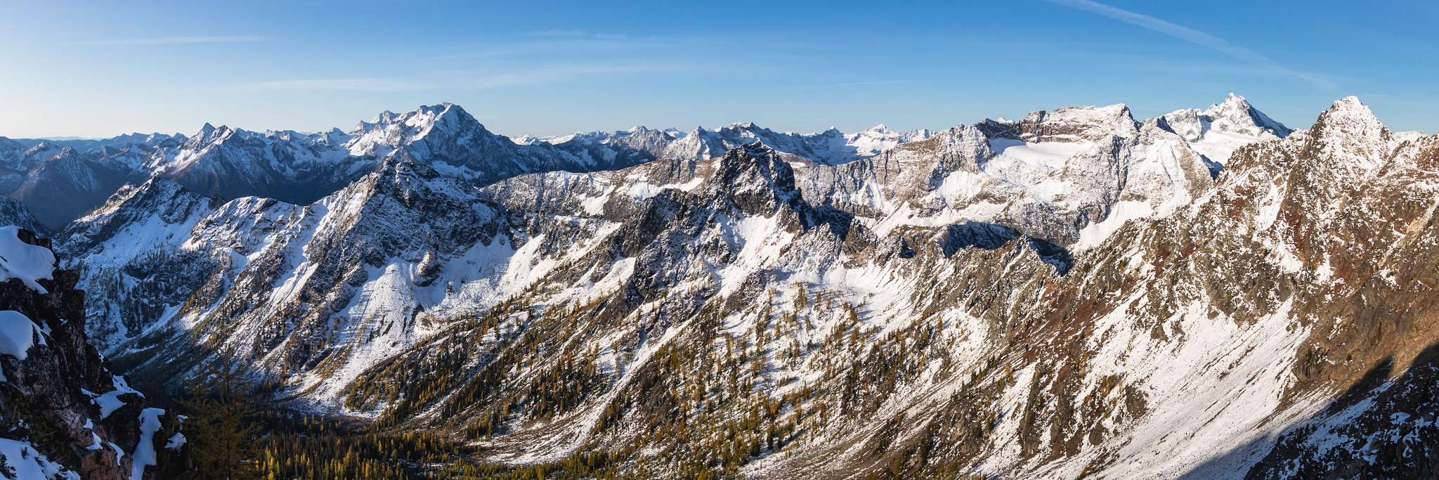 Fourth of July Basin panoramic view