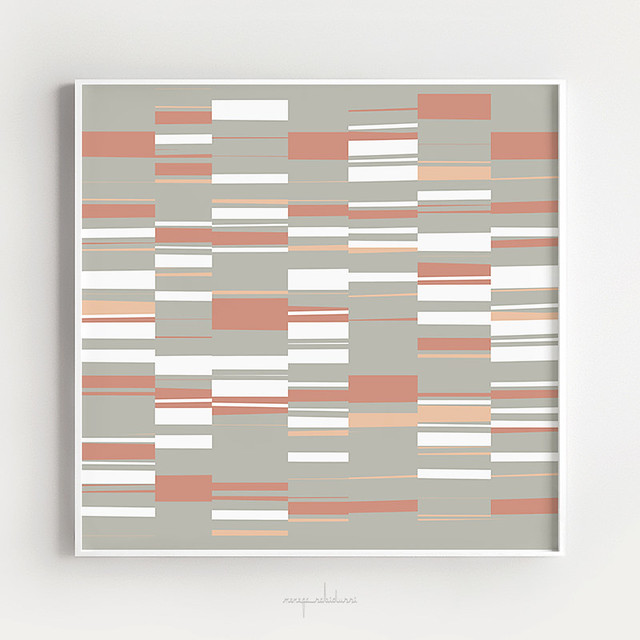 Mosaic Neutrals | Organic Rectangles in Sage, Brick, Peach and White
