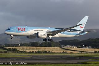 G-TUIH Boeing 787-8 TUI Glasgow airport EGPF 17.08-19