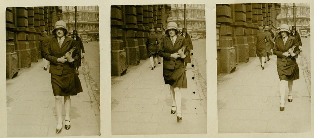 Photograph of members of the public, Willis Street, Wellington, 1930