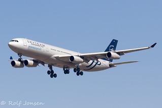 LV-FPV Airbus A340-300 Aerolineas Argentinas Madrid airport LEMD 15.08-19