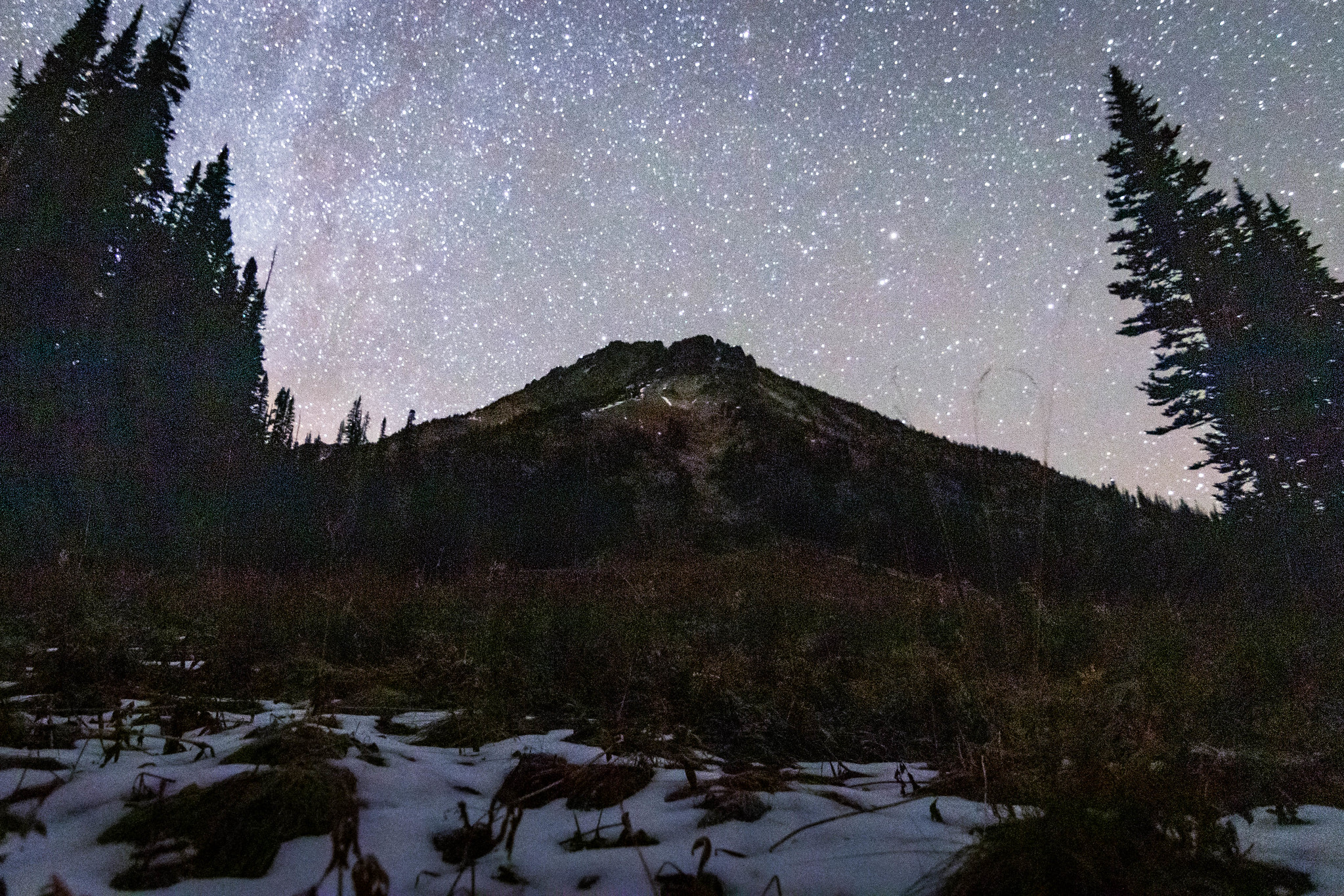 Wy'East Mountain under the Milky Way