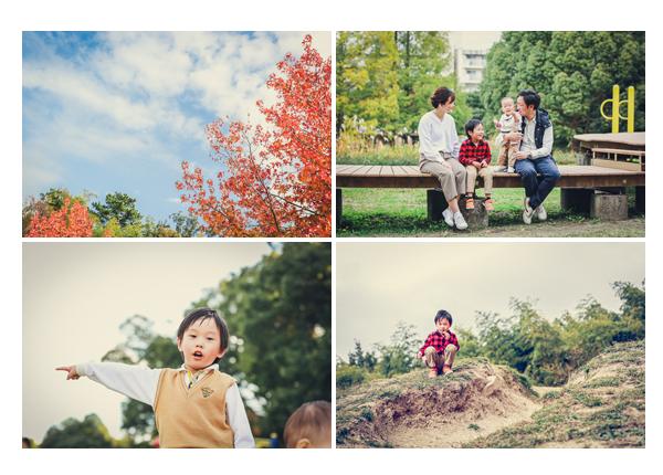 家族写真のロケーション撮影 牧野が池緑地公園
