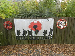 """Lest we Forget"" Banner, Strachan Aberdeenshire, Oct 2019"