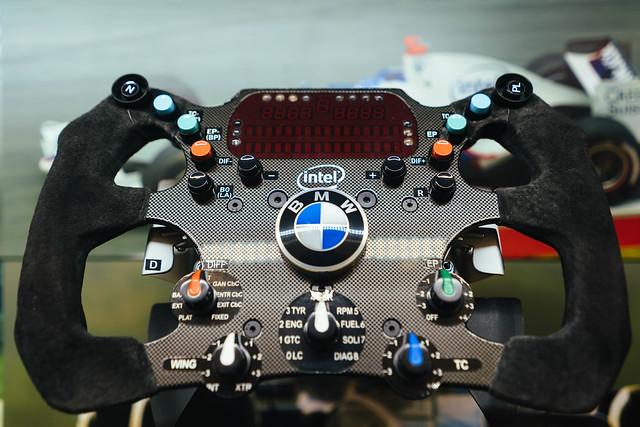 Steering wheel of BMW Formula 1 car