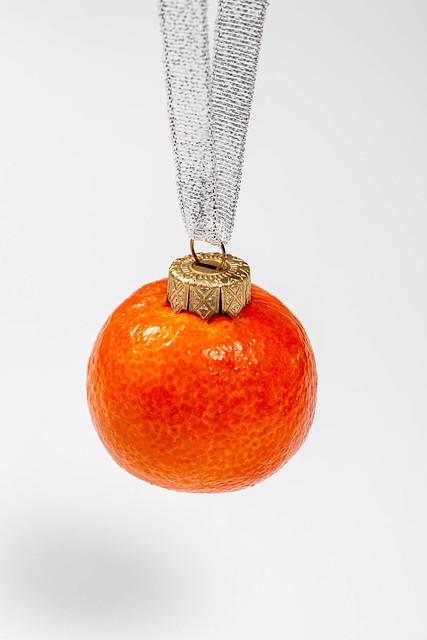 Mandarin fruit-Christmas toy for Christmas tree decoration
