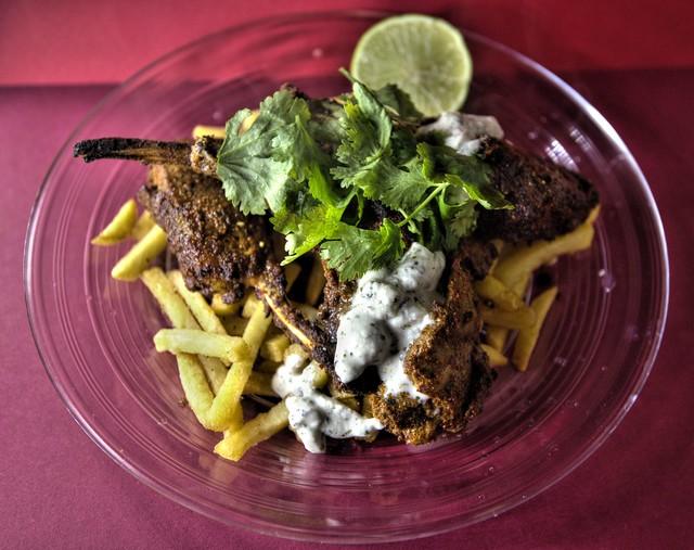 Tandoori Lamb Chops and Fries