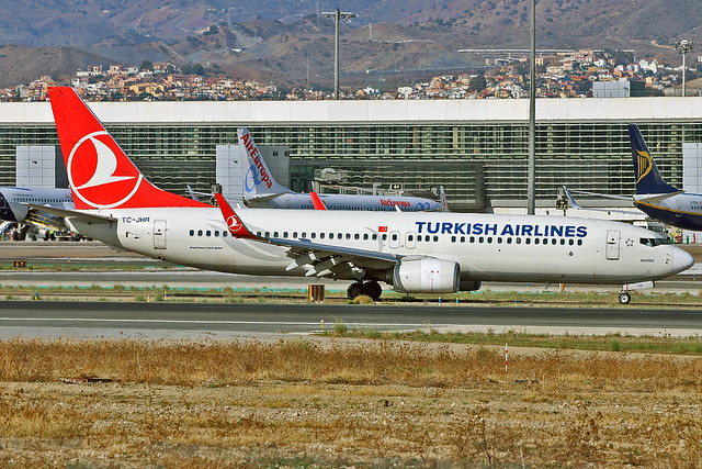 TC-JHR Boeing 737-8F2 Turkish Airlines Named Manisa AGP 21-10-19