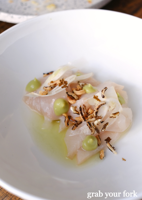 Kingfish, young fennel and wild rice at Noi restaurant in Petersham Sydney