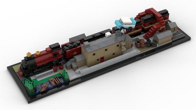 Hogwarts Express Architecture LEGO MOC