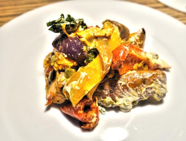 Sweet Potato and Roasted Veg Salad