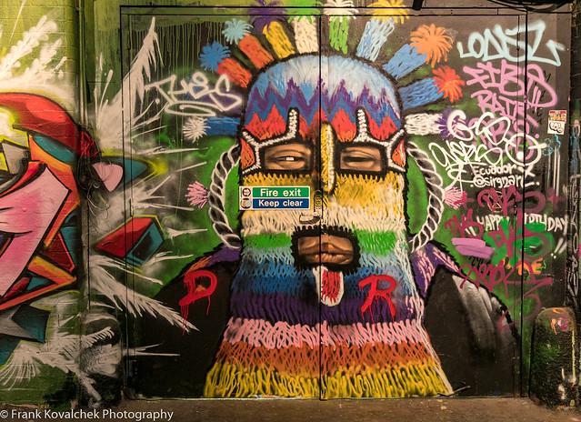 Street art in Leake Street