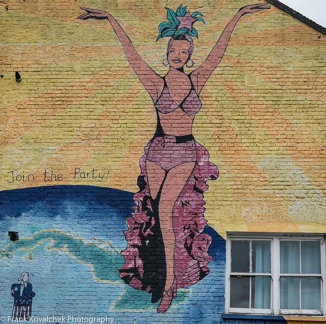 Wall mural near Leake Street
