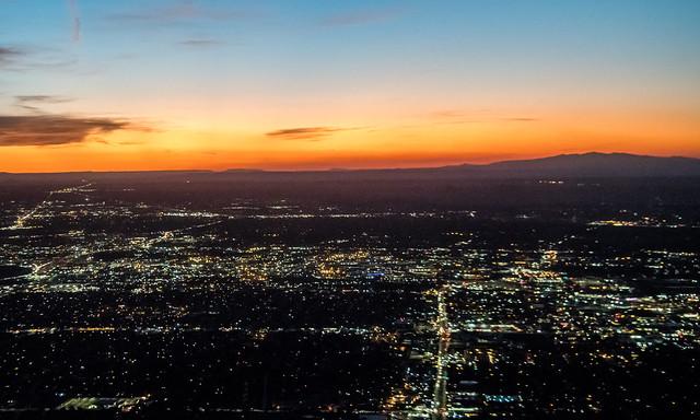 Sunset over Albuquerque