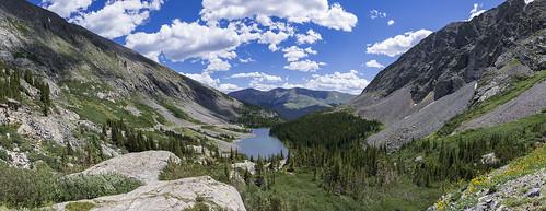 landscape mountain sky colorado rock apline cloud water nikon 28mm pano tree flower lake rockslide