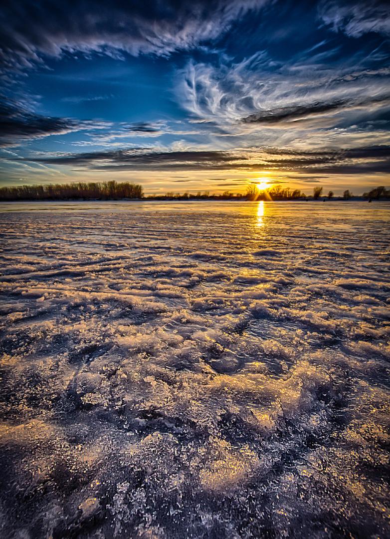 Un coucher glacial