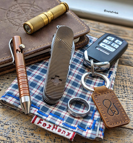 Victorinox Swiss Army Knife with Daily Customs titanium scales, Mini MIG Pen | by edcbyfrank