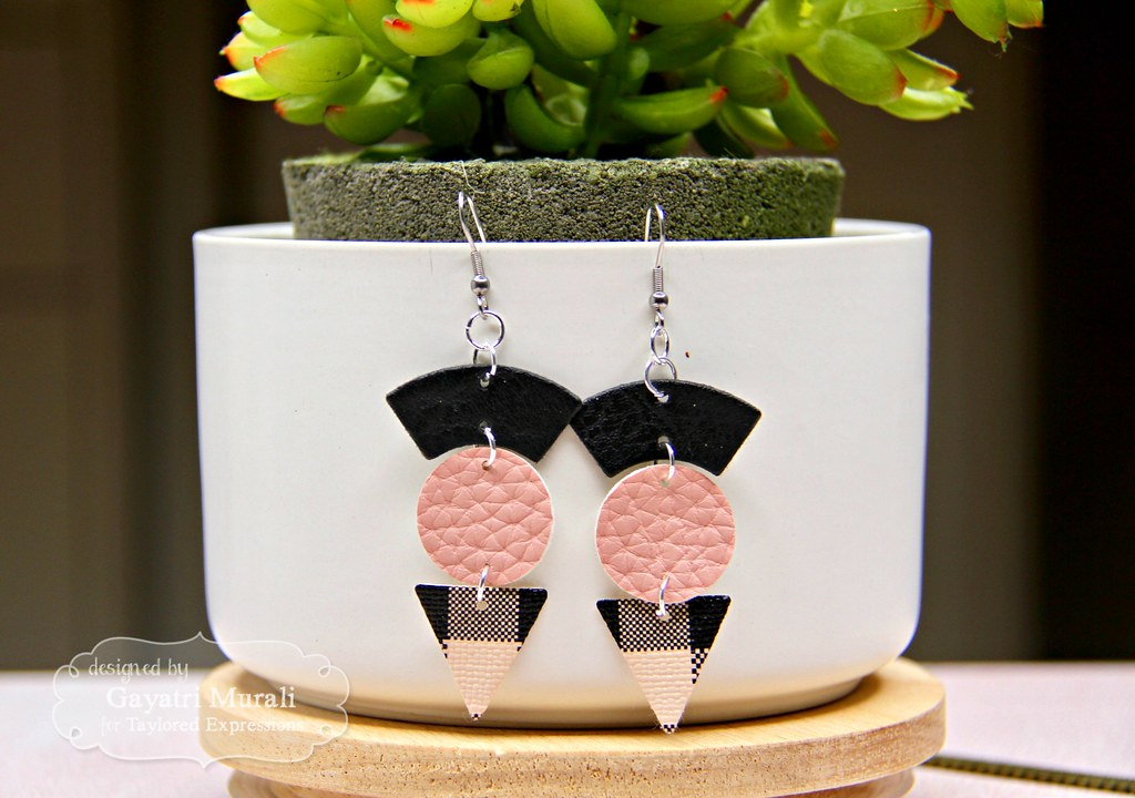 Pink and Black earring #3