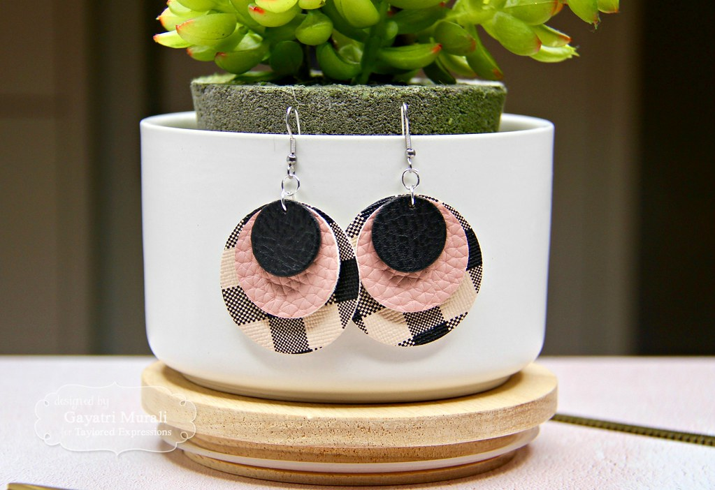 Pink and Black earring #1