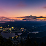 15. November 2019 - 17:06 - A panoramic view of Mount Fuji at dusk