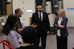 Rep. Davis & Hall toured the Blake Equipment Warehouse in East Windsor, the first net-zero commerical building in the state.