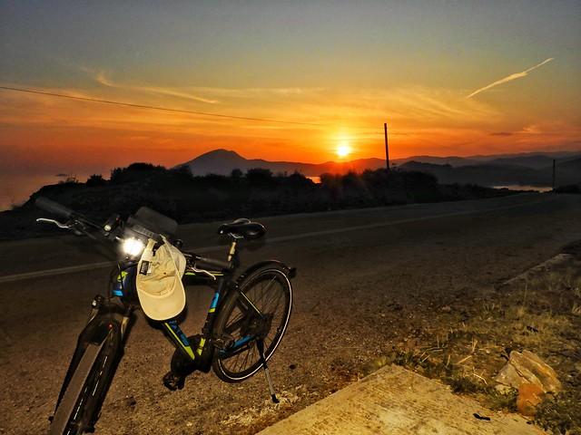 the sunset on my roadtrip