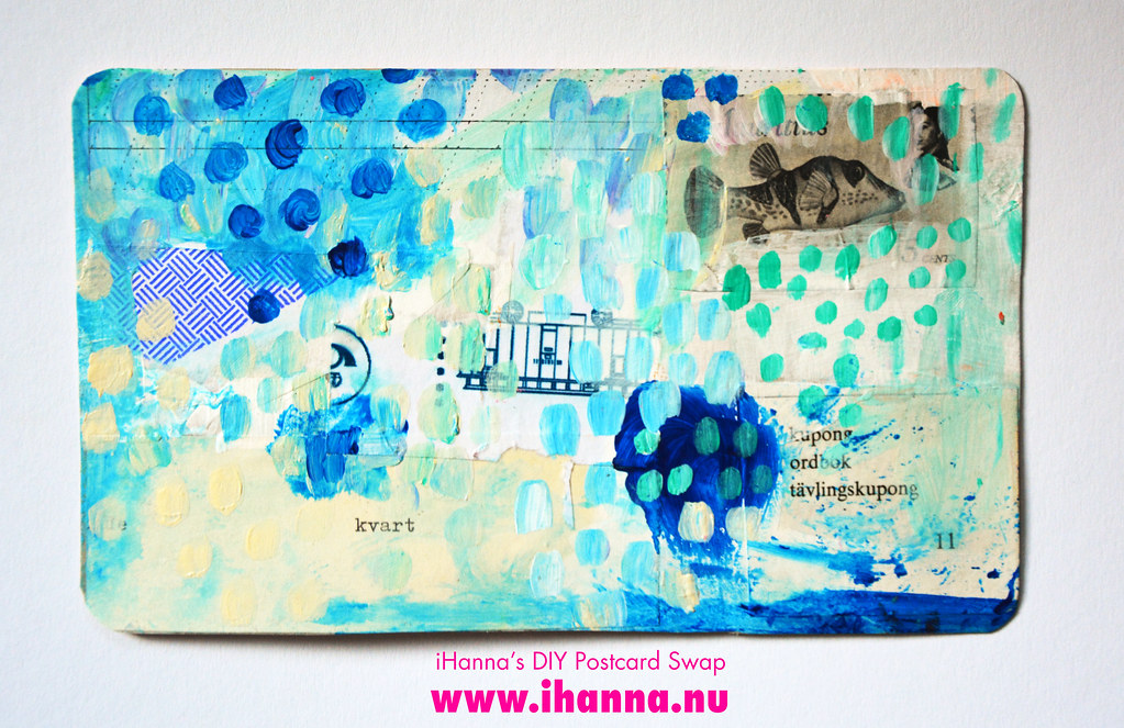 Mixed media DIY Postcard by iHanna fall 2019 no 5