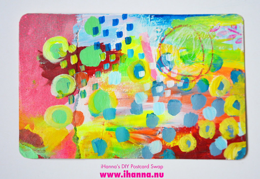 Mixed media DIY Postcard by iHanna fall 2019 no 8