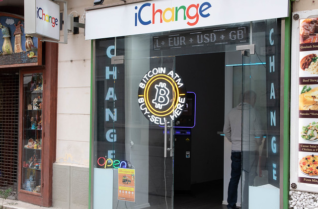 Exchange office in Budapest