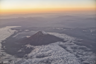View of Mt Fuji from CX549 HND to HKG
