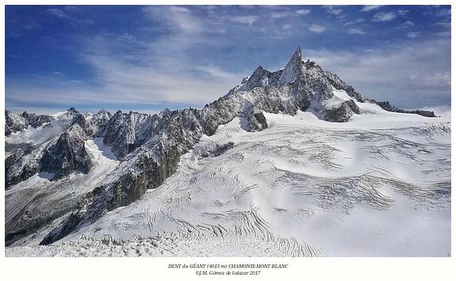 Diente del Gigante (4013m) desde la Aguja del Midi. Chamonix-Mont Blanc. Francia / Dent du GÉANT de l'Aiguille du Midi. Chamonix Mont Blanc. France